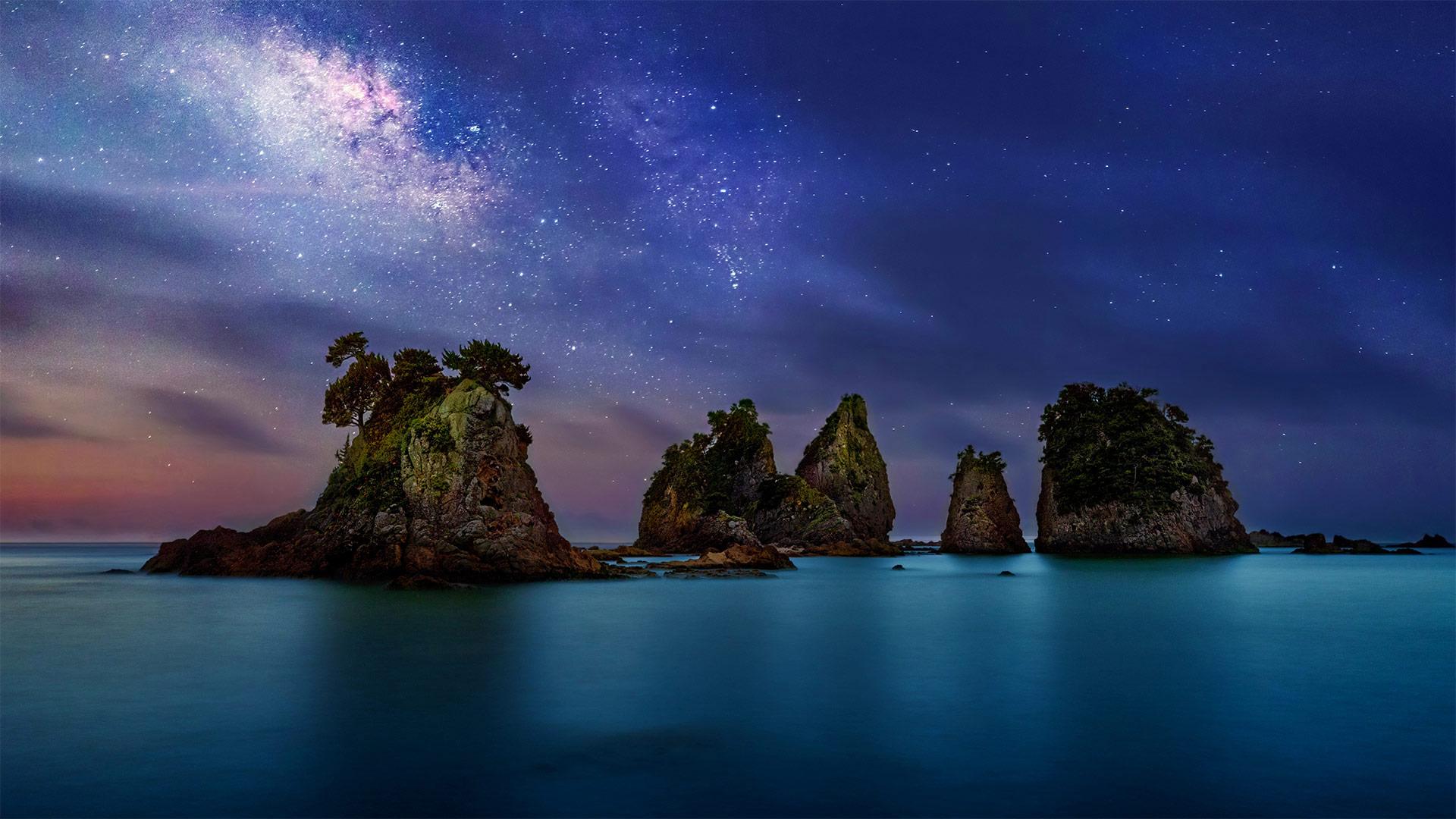 Minokake-Iwa rocks, Izu Peninsula, Japan (? Krzysztof Baranowski/Getty Images)