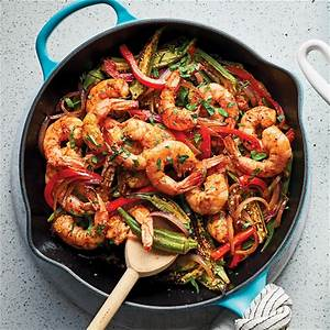 one-pan-spicy-okra-shrimp-recipe-eatingwell image