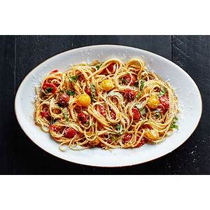 pasta-with-15-minute-burst-cherry-tomato-sauce image