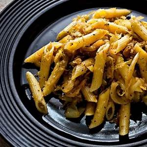 pasta-with-caramelized-cabbage-anchovies image