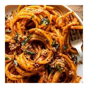 roasted-red-pepper-alla-vodka-pasta-with-cheesy image