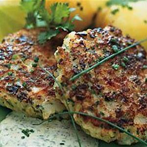 scallop-cakes-with-cilantro-lime-mayonnaise image
