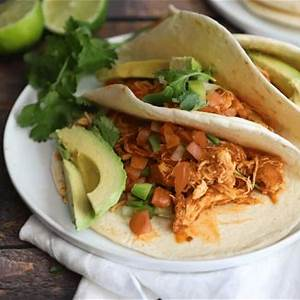 pressure-cooker-cilantro-lime-chicken-tacos-mealthycom image