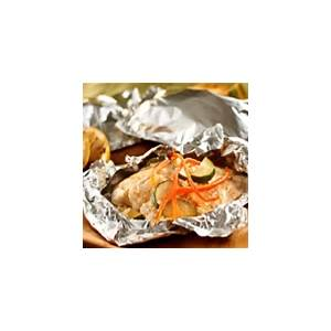 foil-wrapped-fish-with-creamy-parmesan-sauce-recipe-say-mmm image
