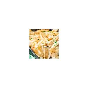 best-chicken-alfredo-pasta-bake-with-cheese image