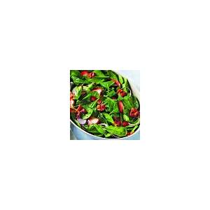 spinach-and-strawberry-salad-with-warm-bacon-vinaigrette image