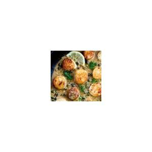 pan-seared-scallops-with-lemon-caper-sauce-amazing image