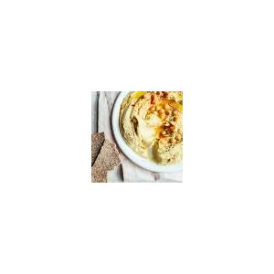 creamy-roasted-garlic-hummus-recipe-foodcom image