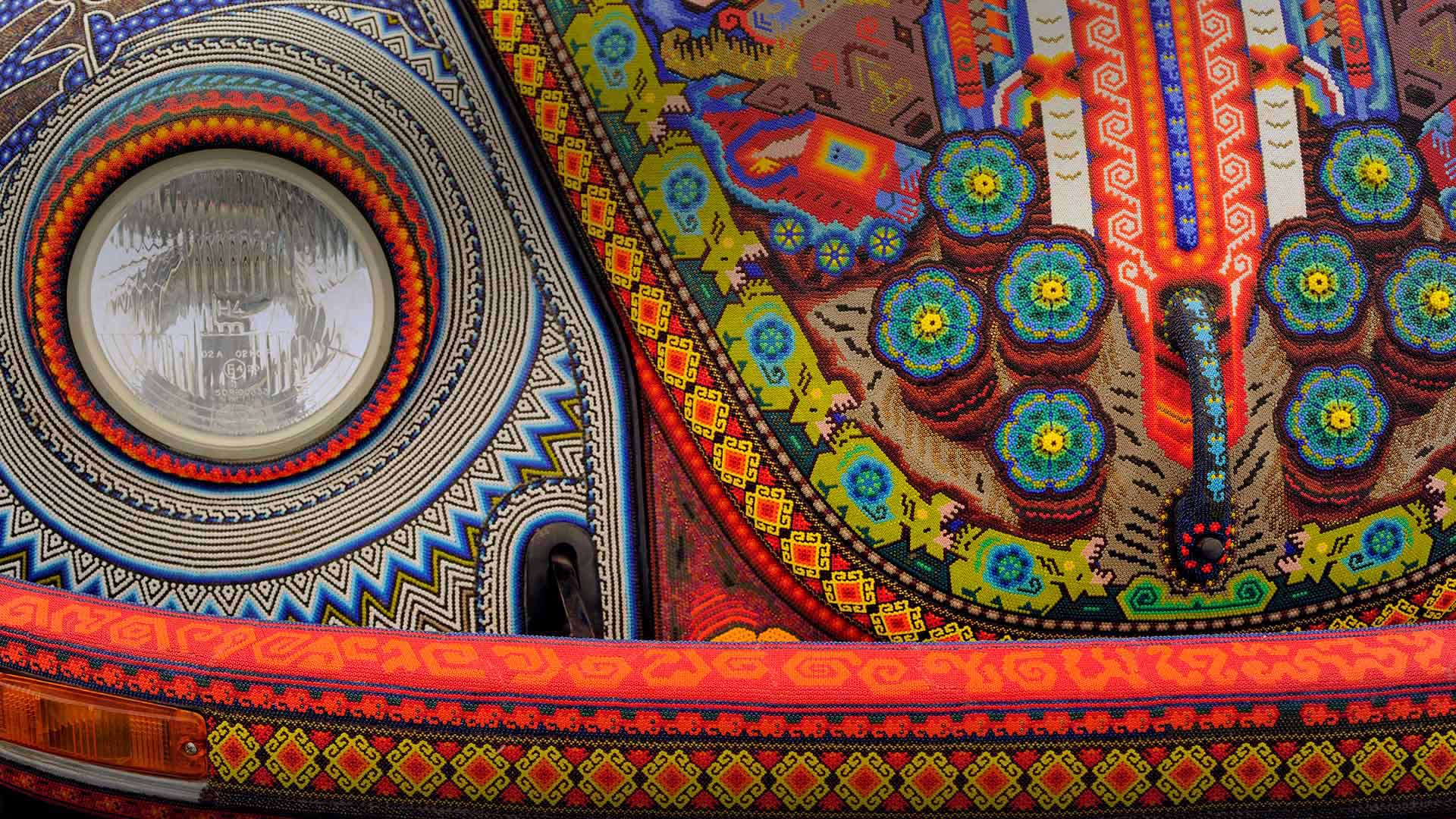 The Vochol, a Volkswagen Beetle decorated with traditional Huichol beadwork (© Helen H. Richardson/Getty Images)