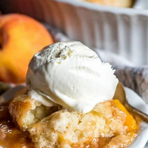 easy-peach-cobbler-recipe-with-homemade-sugar-crusted image