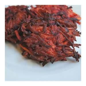 beet-and-sweet-potato-latkes-recipe-my-jewish-learning image