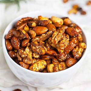 maple-glazed-spiced-roasted-nuts-the-rustic-foodie image