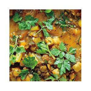 spiced-moroccan-vegetable-soup-with-chickpeas-cilantro image