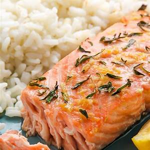 lemon-garlic-and-thyme-baked-salmon-baker-by-nature image