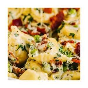 easy-tortellini-bacon-carbonara-heather image