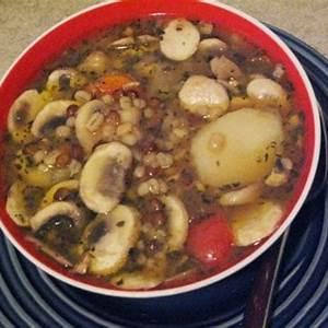 barley-lentil-mushroom-soup-recipe-sparkrecipes image
