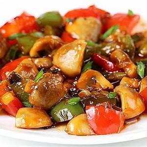chilli-mushroom-recipe-swasthis image