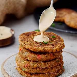 red-lentil-patties-easy-fritters-recipe-elavegan image