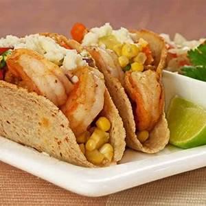 shrimp-tacos-with-corn-and-avocado-salsa image