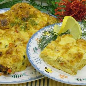 salmon-bread-pudding-recipe-for-lunch-brunch-or-dinner image
