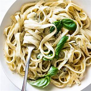 pasta-with-basil-cream-sauce-simply-delicious image
