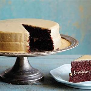 lizzies-old-fashioned-cocoa-cake-with-caramel-icing image
