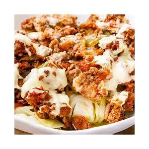 low-carb-ground-beef-and-cabbage-paleo-casserole image