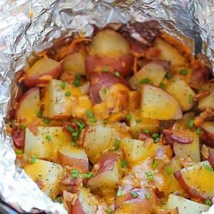 slow-cooker-cheesy-bacon-ranch-potatoes-damn-delicious image