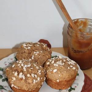 savory-moments-apple-butter-oatmeal-muffins image
