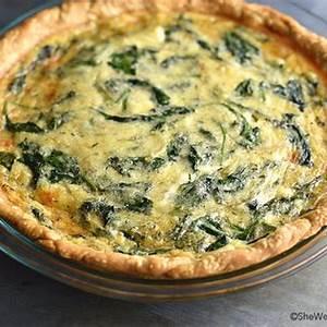 sauted-onion-gruyere-spinach-quiche-recipe-she-wears image