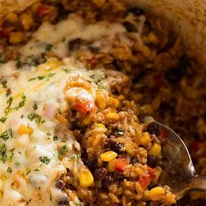 mexican-ground-beef-casserole-with-rice-beef-mince image