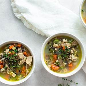 turkey-and-wild-rice-soup-recipe-with-thyme-nourished image