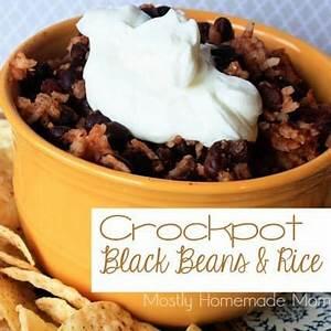 crockpot-black-beans-rice-mostly-homemade-mom image