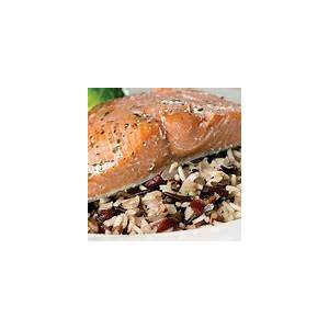 baked-salmon-fillets-on-wild-rice-pilaf-thrifty-foods image