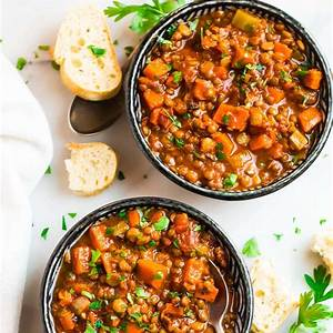 crockpot-lentil-soup-easy-healthy-slow-cooker-soup image