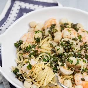 shrimp-scallop-linguine-with-lemon-caper-butter image