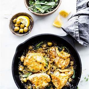 one-pan-lemon-sage-baked-chicken-and-olives-paleo image