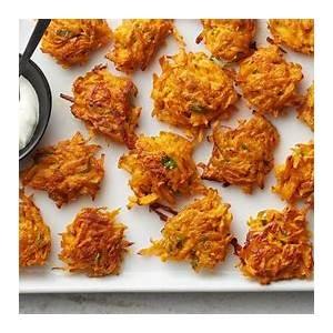 easy-sweet-potato-latkes-recipe-tablespooncom image
