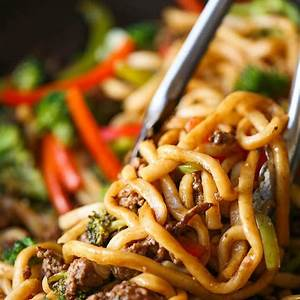 ground-beef-noodle-stir-fry-damn-delicious image