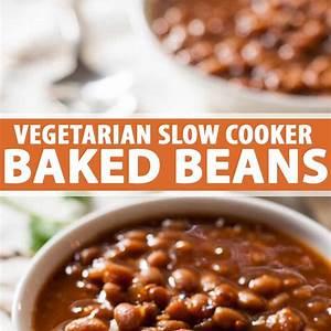 the-best-vegetarian-slow-cooker-baked-bean-recipe-fooal image