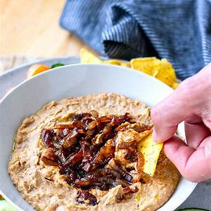 creamy-pinto-bean-dip-with-caramelized-instant-pot image