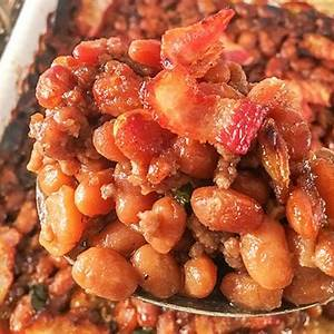 easy-baked-beans-with-ground-beef-bacon-and-brown-sugar image