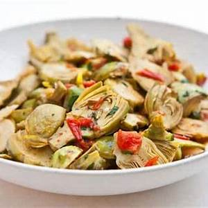 baby-artichokes-with-garlic-and-tomatoes-steamy-kitchen image