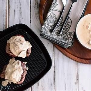 grilled-steak-with-creamy-mushroom-gorgonzola-sauce image
