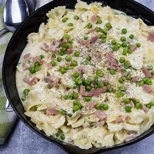 creamy-ham-and-pea-pasta-recipe-everyday image