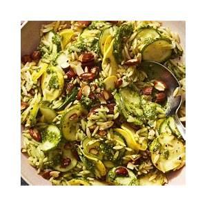 best-pesto-zucchini-orzo-recipe-how-to-make-pesto image