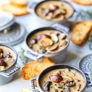 creamy-roasted-mushroom-soup-damn-delicious image