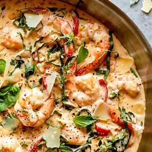 creamy-parmesan-basil-shrimp-recipe-fox-and-briar image