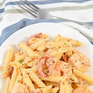 creamy-shrimp-pasta-with-sun-dried-tomatoes-happy image