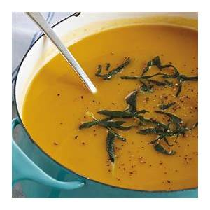 easy-butternut-squash-soup-with-crispy-sage-leaves image